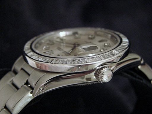Rolex Stainless Steel Date 15200 Silver Diamond-3