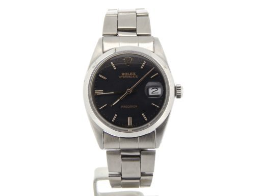 Rolex Stainless Steel Oysterdate 6694 Black -6