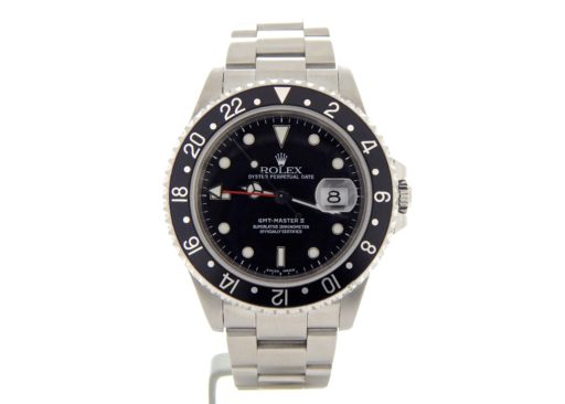 Rolex Stainless Steel GMT Master II 16710 Black -8