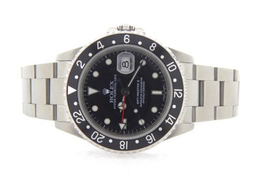 Rolex Stainless Steel GMT Master II 16710 Black -6