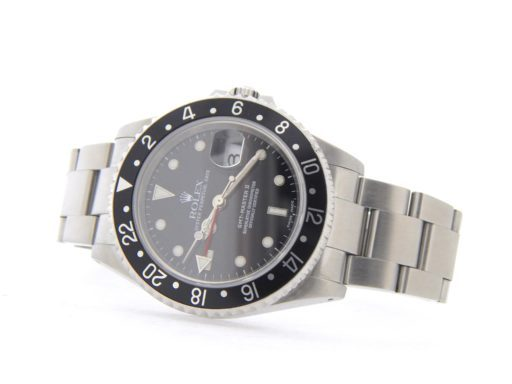 Rolex Stainless Steel GMT Master II 16710 Black -7