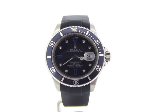 Rolex Stainless Steel Submariner 16610 Black Diamond-10
