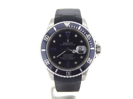 Rolex Stainless Steel Submariner 16610 Black Diamond-7