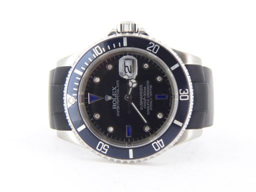 Rolex Stainless Steel Submariner 16610 Black Diamond-8
