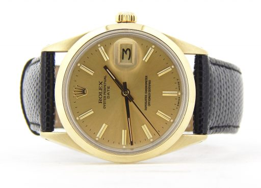 Rolex Gold Shell Date 1550 Champagne-6