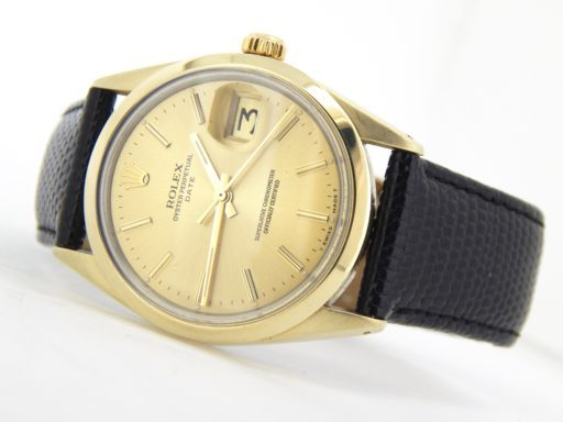 Rolex Gold Shell Date 1550 Champagne-7
