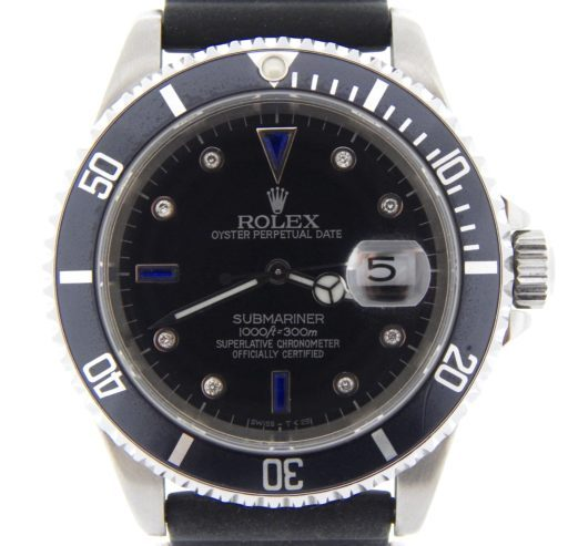 Rolex Stainless Steel Submariner 16610 Black Diamond-1