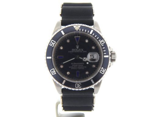 Rolex Stainless Steel Submariner 16610 Black Diamond-9