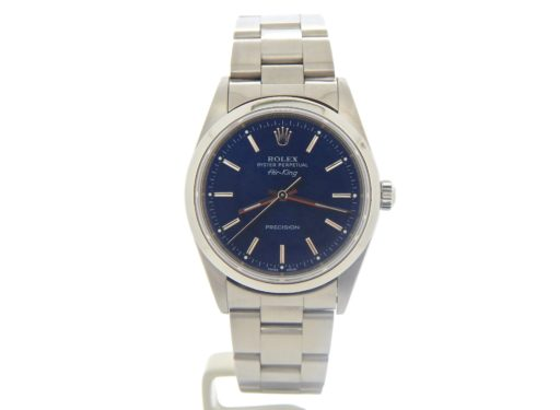 Rolex Stainless Steel Air-King 14000 Blue-8
