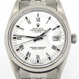 Mens Rolex Stainless Steel Date White Roman 15000 (SKU 9204150MT)