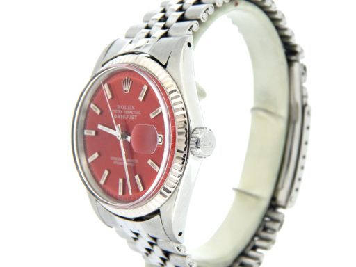 Rolex Stainless Steel Datejust 1601 Red -5