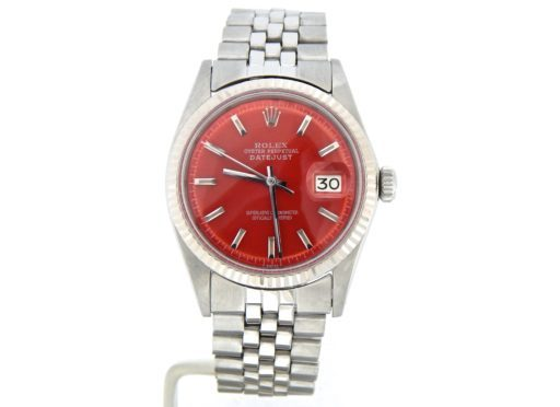 Rolex Stainless Steel Datejust 1601 Red -7