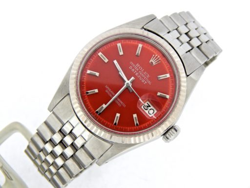 Rolex Stainless Steel Datejust 1601 Red -6