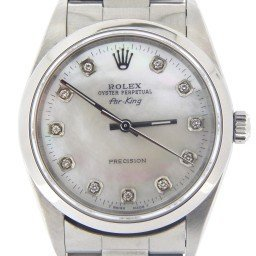 Mens Rolex Stainless Steel Air-King White MOP Diamond 14000 (SKU P694496C)