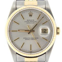 Mens Rolex Two-Tone 14K/SS Datejust Silver  16013 (SKU 6770544MT)