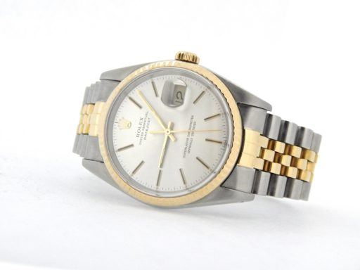 Rolex Two-Tone Datejust 16013 Silver -7