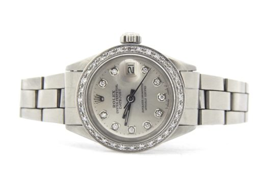 Rolex Stainless Steel Datejust 6917 Silver Diamond-6