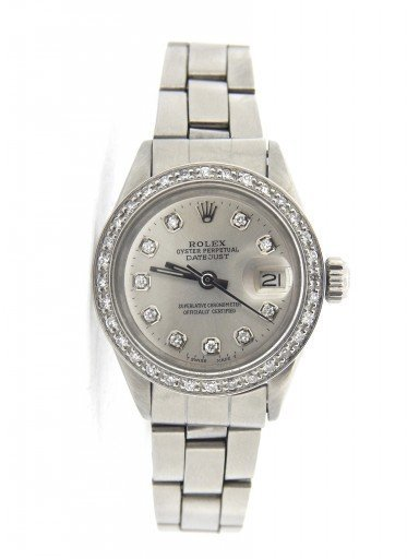 Rolex Stainless Steel Datejust 6917 Silver Diamond-7