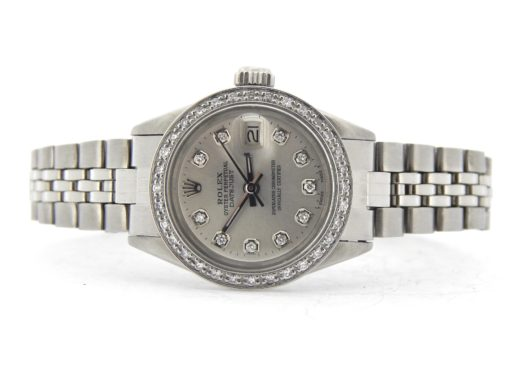 Rolex Stainless Steel Datejust 6916 Silver Diamond-6