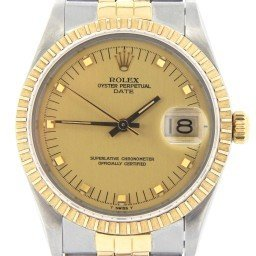 Mens Rolex Two-Tone 18K/SS Date Champagne  15053 (SKU 7499972MT)