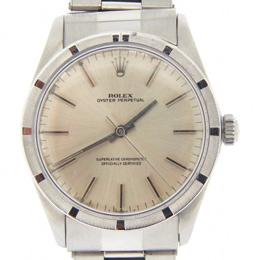 Rolex Stainless Steel Oyster Perpetual 1007 Silver -1