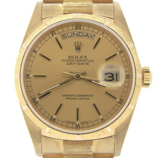Rolex 18K Yellow Gold Day-Date President 18078 Champagne -1