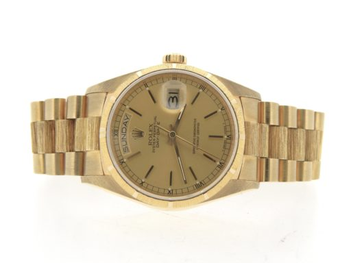 Rolex 18K Yellow Gold Day-Date President 18078 Champagne -7