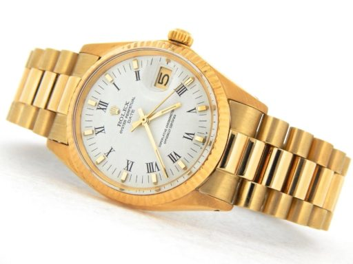 Rolex 14K Yellow Gold Date 1503 White Roman-8