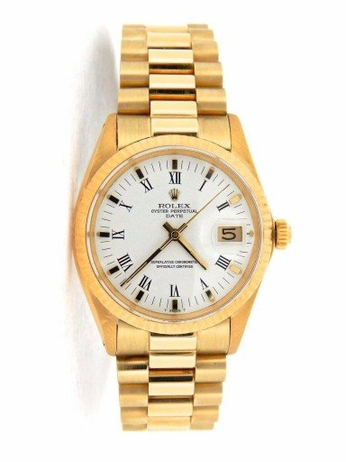 Rolex 14K Yellow Gold Date 1503 White Roman-9