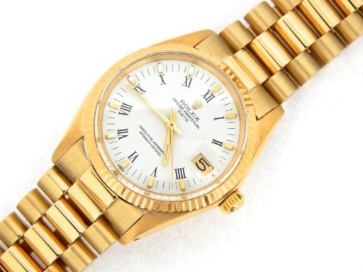 Rolex 14K Yellow Gold Date 1503 White Roman-7