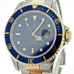 Mens Rolex Two-Tone 18K/SS Submariner Blue  16613 (SKU S459543BCMT)