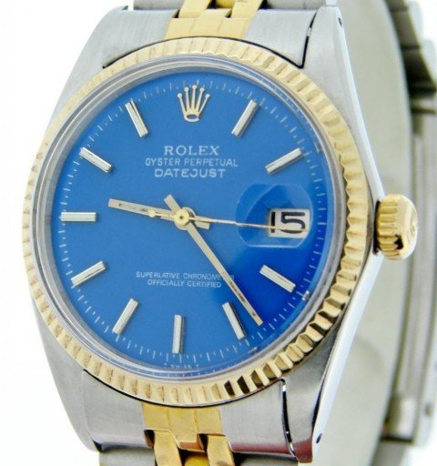 Rolex Two-Tone Datejust 1601 Blue -1