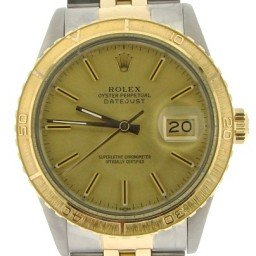 Mens Rolex Two-Tone 18K/SS Datejust Turn-O-Graph Champagne  16253 (SKU 8630711NBMT)