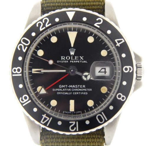 Rolex Stainless Steel GMT-Master 1675 Black -1