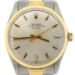 Mens Rolex Two-Tone 14K/SS Air-King Silver  5501 (SKU 6390091MT)