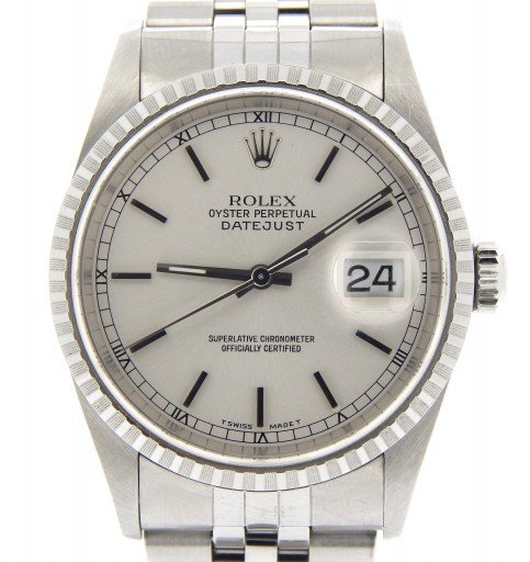 Rolex Stainless Steel Datejust 16220 Silver -1