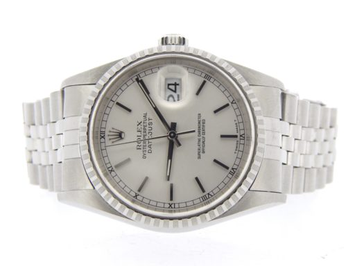 Rolex Stainless Steel Datejust 16220 Silver -9