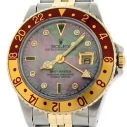 Mens Rolex Two Tone GMT Master Brown Rootbeer Diamond 16753 (SKU 7229489MT)