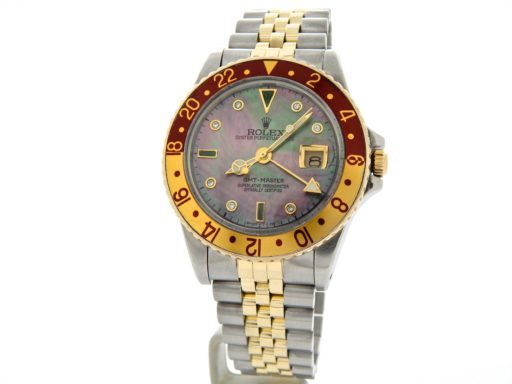 Rolex Two-Tone GMT-Master 16753 Brown Rootbeer Diamond-7