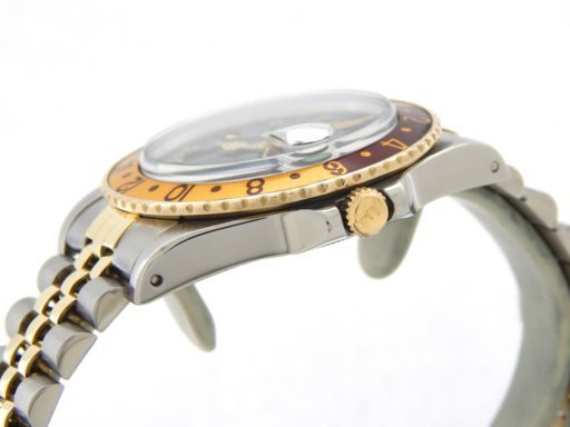 Rolex Two-Tone GMT-Master 16753 Brown Rootbeer Diamond-5
