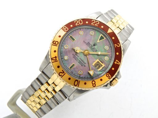 Rolex Two-Tone GMT-Master 16753 Brown Rootbeer Diamond-6