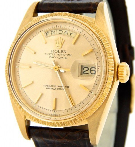 Rolex 18K Yellow Gold Day-Date President 1807 Champagne -1