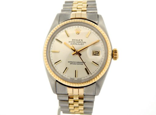 Rolex Two-Tone Datejust 1601 Silver -8