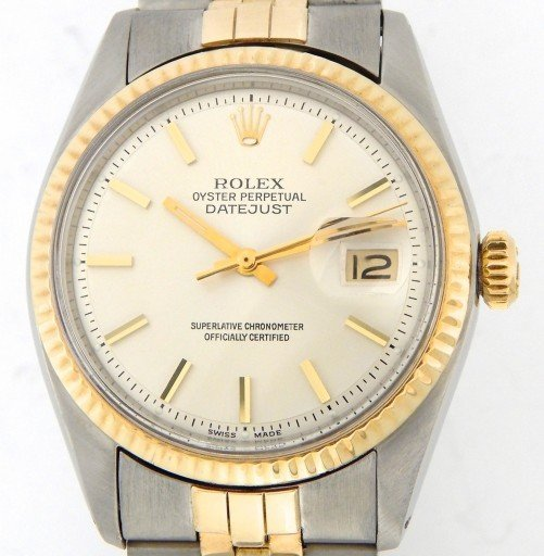 Rolex Two-Tone Datejust 1601 Silver -6