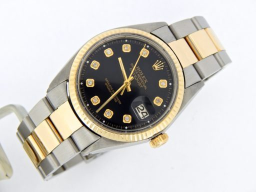 Rolex Two-Tone Datejust 1601 Black Diamond-6