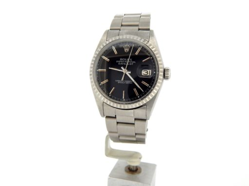 Rolex Stainless Steel Datejust 1603 Black -5
