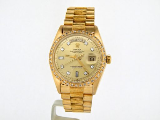 Rolex 18K Yellow Gold Day-Date President 1803 Champagne Diamond-6