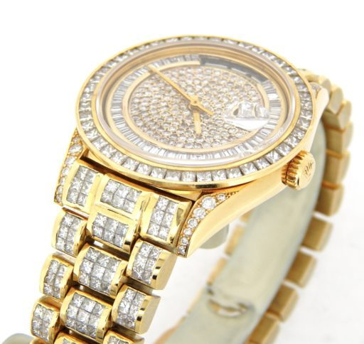 Rolex 18K Yellow Gold Day-Date President 18238 Full Diamond-2