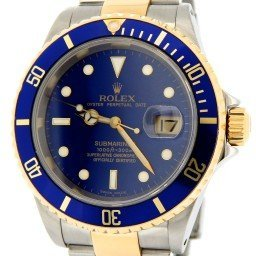 Mens Rolex Two-Tone 18K/SS Submariner Blue  16613 (SKU K468759MT)