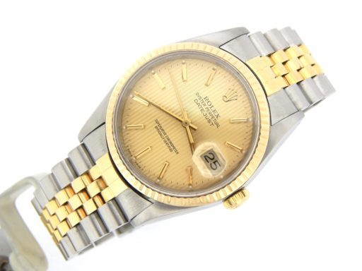 Rolex Two-Tone Datejust 16233 Champagne -7